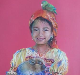 Título: Color Autor: María Luisa García Medidas: 45 x 40 cm Técnica: Pastel