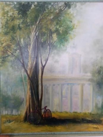 Autor: María Luisa García Medidas: 81 x 65 cm Técnica: Óleo sobre lienzo.