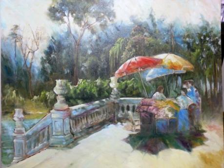 Autor: María Luisa García Medidas: 100 x 81 cm Técnica: Óleo sobre lienzo
