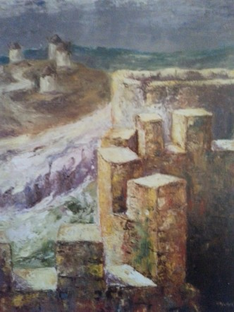 Título: Campo de Criptana Autor: María Luisa García Medidas: 81 x 65 Técnica: Óleo sobre lienzo