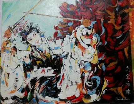 Ref.: C.00300 Autor: Joaquina Díaz Candelas. Medidas: 55 x 45 cm Técnica: Óleo sobre lienzo.