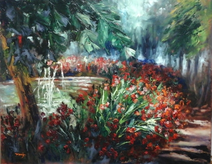 Autor: María Luisa García Medidas: 100 x 81 cm Técnica: óleo sobre lienzo.