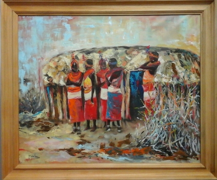 Autora: Mª Luisa García Técnica: Óleo. Medidas: 100 x 81 cm