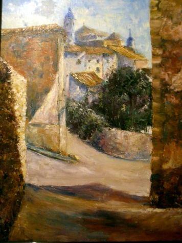 Título: Horche (Guadalajara) Autor: María Luisa García Medidas: 81 x 65 cm Técnica: Óleo sobre lienzo.