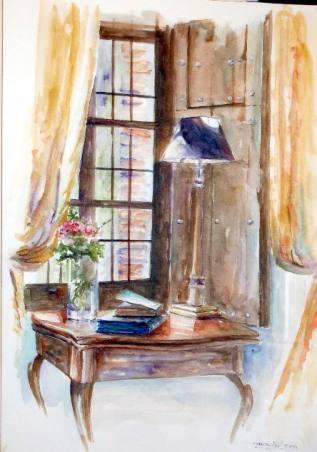 Título: Aquel rincón Autor: María Luisa García Medidas: 45 x 30 cm Técnica: Acuarela