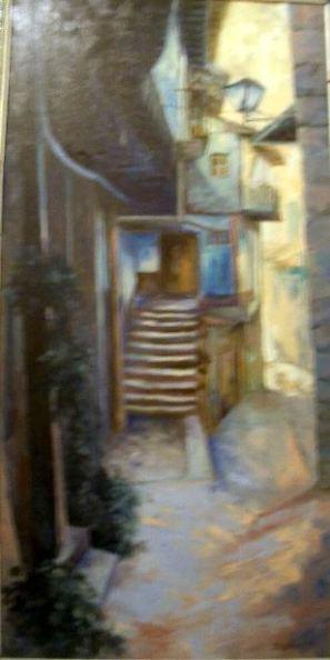 Título: Miranda del Castañar. Autor: María Luisa García. Medidas: 110 x 45 cm Técnica: Óleo sobre lienzo
