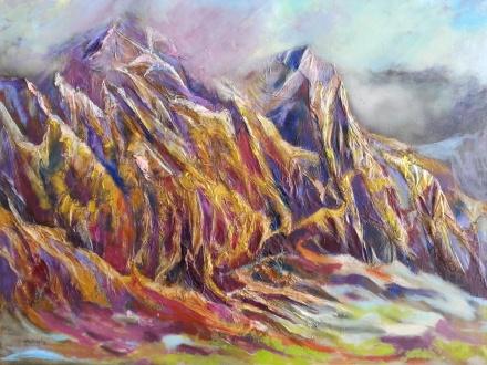 Autor: María Luisa García Medidas: 55 x 46 cm Técnica: Collage Mixto, acrílico y óleo sobre papel y lienzo