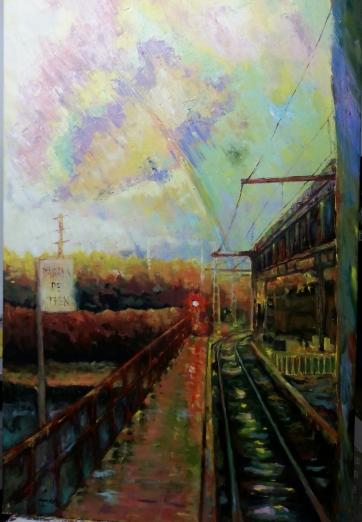 Autor: María Luisa García Medidas: 130 x 81 cm Técnica: Óleo sobre lienzo.