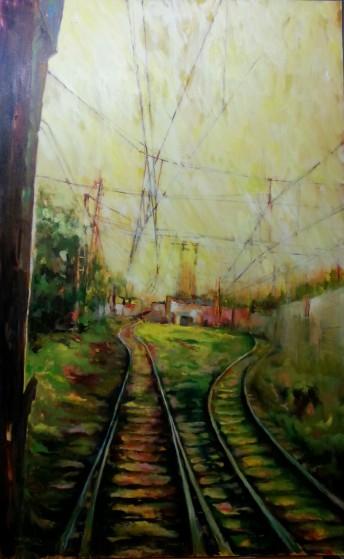 Autor: María Luisa García Medidas: 130 x 81 cm Técnica: Oleo sobre lienzo.