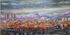 Título: Vistas Autor: María Luisa García Técnica: Óleo Medidas: 90 x 45 cm aprox