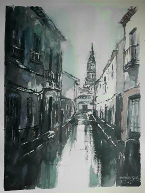 "Acuarela 41 x 31 cm. ""Luz de lluvia"""