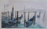 """ACUARELA. 50 x 32 cm. """"Venecia""""."""